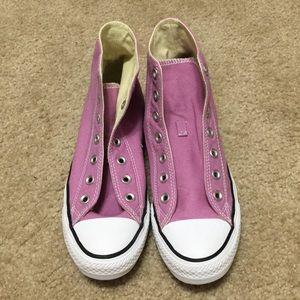 Converse Lavender Hi Tops Women's Size 8